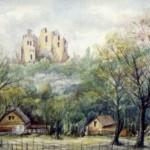 Csesznek 1984 Akvarell
