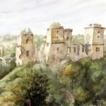 Diósgyőri vár 1967 Akvarell