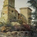 Diósgyőri vár 1961 Akvarell