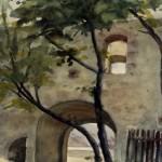 Eger várkapu 1961 Akvarell