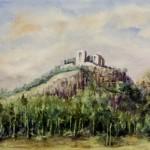 Füzéri várrom 1992 Akvarell