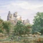 Hollókő 1983 Akvarell