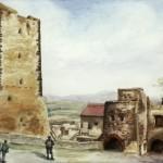 Nagyvázsony 1984 Akvarell