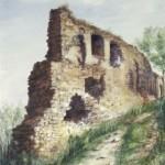 Rezi várrészlet 1990 Akvarell