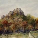 Salgó vár 1971 Akvarell