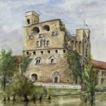 Sárospatak Lakótorony 1999 Akvarell