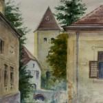 Kőszeg Schernel u. 1961 Akvarell