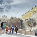 Siklósi várkapu 1987 Akvarell