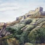 Siroki várrom 1990 Akvarell