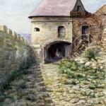 Sümegi várkapu 1961 Akvarell