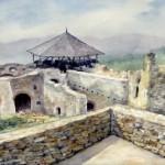 Sümeg várudvar 1962 Akvarell