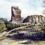 Szanda várrom 1994 Akvarell