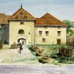 Szerencs várudvar 1998 Akvarell