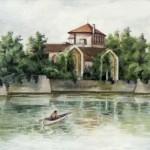 Tatai vár 1960 Akvarell