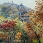 Visegrád - Fellegvár 1990 Akvarell
